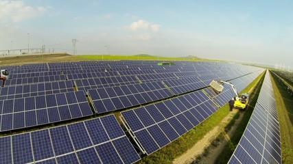 Campo Fotovoltaico pulizia