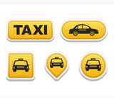 Fototapety Taxi Icons and Buttons