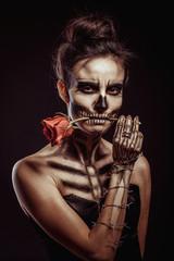 girl's skeleton in the Studio