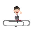 Businessman with clip over white background. Vector design