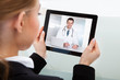 Businesswoman Having Video Chat