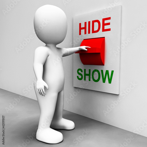 Show Hide Switch Means Conceal or Reveal