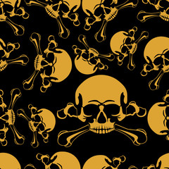 Skull in a seamless background