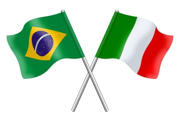 Bandiere:  Duetto Brasile ed Italia