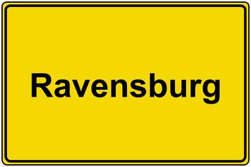 Ortsschild Ravensburg