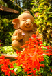 Garden decorations-flowers and elephant