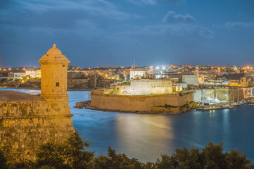 Fort Lascaris Bastion in Valletta, Malta