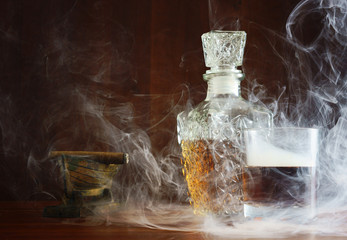 Eau-de-vie in the smoke cigars