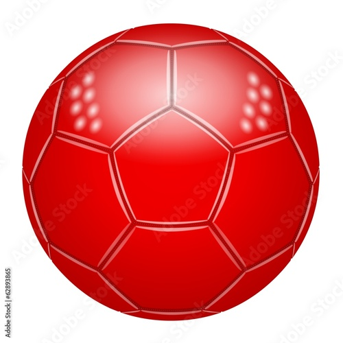 Ballon de football rouge