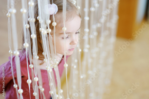 Adorable little girl portrait indoors