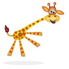 giraffa saltellante