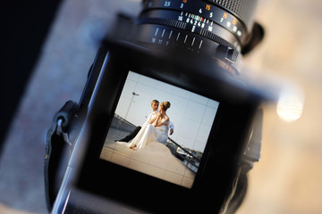 Shooting a wedding with a vintage camera