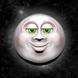 Full Moon Smiling Face 3D