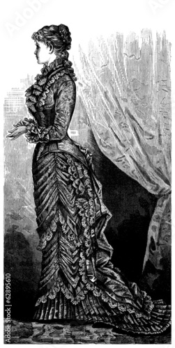 Long Dress - Mode-Fashion : end 19th century