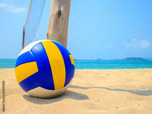 canvas print picture Volleyball in Sand