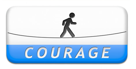 courage button