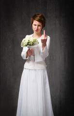 rude wedding wife gesture