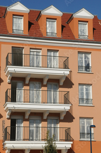 France, residential block in Vaureal