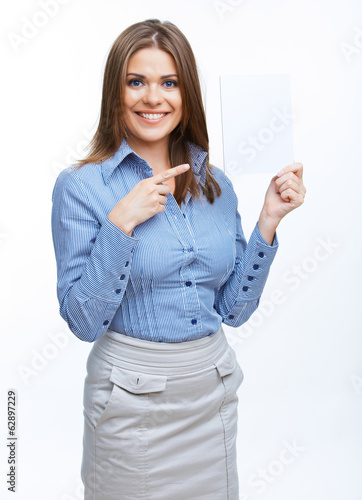 woman hold card