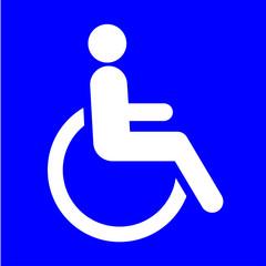 Symbole place handicapée