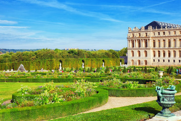VERSAILLES FRANCE - SEPTEMBER 21 Back side of the Royal Versaill