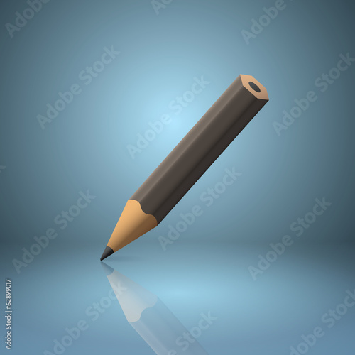 Black sharpened pencil icon