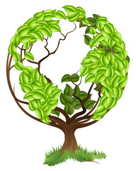 Green Tree Globe Earth World Concept