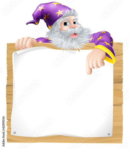 Wizard Character Sign
