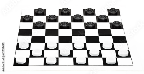 8x8 checkers board isolated on white background
