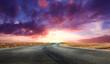 spettacolare alba nel deserto