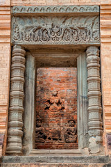 Entrance to Prasat kravan - an old Hindu temple in Angkor