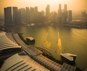 Sunset at Marina bay