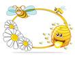Obrazy na płótnie, fototapety, zdjęcia, fotoobrazy drukowane : Honey icons set