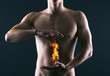 Pain in the abdomen or in the stomach of man. Heartburn. - 62901871