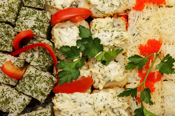 Tasty and healthy food from seafood