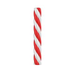 christmas candy cane font - letter i
