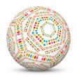 Kugel, Muster, abstrakt, 3D, blanko, leer, Sphere, Ball, white