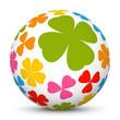 Kugel, Muster, Klee, 3D, Sphere, Ball, lucky clover, Pattern