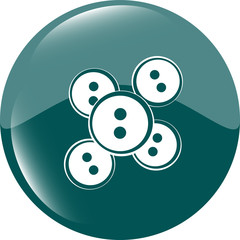 abstract icon on glossy web button