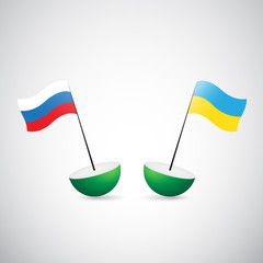 russia and ukraine flags