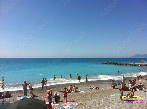 canvas print picture Strand in Bordighera