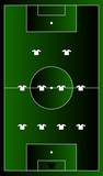 soccer playground gradient with team formation poster