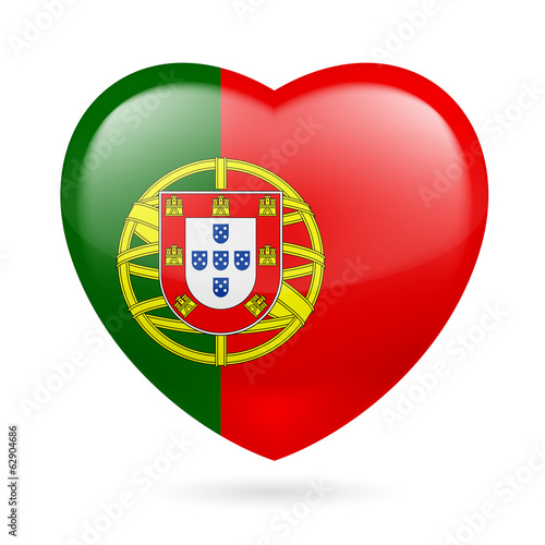 Heart icon of Portugal
