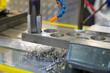 canvas print picture - Metall bohren