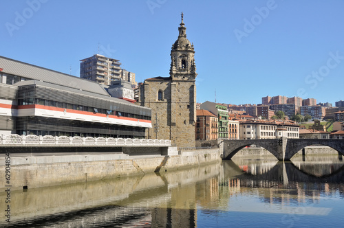 Bilbao, La Ribera market and San Anton bridge