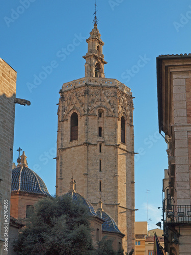 """El Miguelete"" belltower and Cathedral of Valencia, Spain."