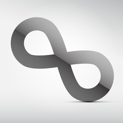 Vector Paper Infinity Symbols on Grey Background