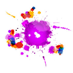 Colorful Vector Splashes Abstract Background
