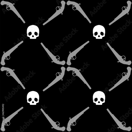 Pirate pattern with pistol