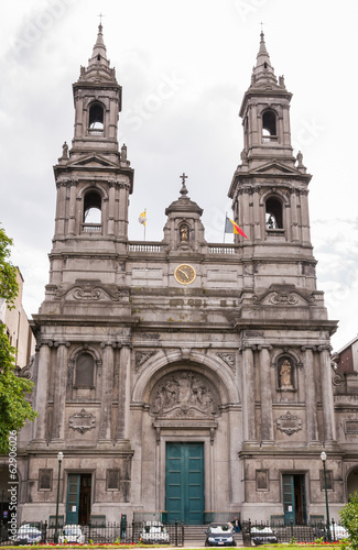 Exterior of Chuch Eglise in Brussels,Belgium
